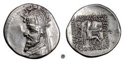Ancient Coins - Parthia, SINATRUKES.  AR Drachm, Rhagai mint, circa 93-69 BC