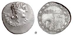Ancient Coins - MACEDON, Aesillas.  AR Tetradrachm, circa 95-70 BC.  Head of Alexander / Club, etc.