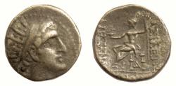 Ancient Coins - SELEUKID KINGS, Alexander I Balas. AE denomination B.  Zeus Aëtophoros. RARE
