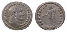 Ancient Coins - GALERIUS. AE follis, Heraclea mint, struck 305-306 AD. Genius