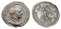 Ancient Coins - SEVERUS ALEXANDER. AR denarius, Rome mint, 225 AD. Victory