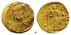 Ancient Coins - Byzantine, MAURICE TIBERIUS. AV Solidus, Constantinople mint, struck 583-602