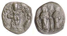 Ancient Coins - BYZANTINE, Constantine X. AE follis, Constantinople mint, 1059-1067 AD