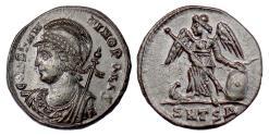 Ancient Coins - Roman, Constantinople City Commemorative. AE follis, 330-333 AD. Constantinopolis / Victory