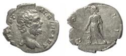 Ancient Coins - Clodius Albinus. AR Denarius, Rome mint. Struck AD 194-195. Aesculapius