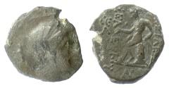 Ancient Coins - SELEUKID KINGS, Seleukos III. AE denom C, Antioch mint. 225-222 BC. Artemis / Apolllo