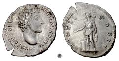 Ancient Coins - MARCUS AURELIUS.  AR denarius, Rome mint, 151-152 AD.  Genius