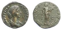 Ancient Coins - Faustina Junior, Augusta. AE as, Rome mint. Struck under Marcus Aurelius, AD 161-175