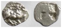 Ancient Coins - UNCERTAIN (Aegae?), THRACO-MACEDONIAN REGION. AR Obol, circa 480-460 BC