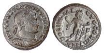 Ancient Coins - CONSTANTINE I. AE follis, Arles mint, 315-316 AD. Sol