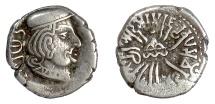 INDO-SKYTHIANS, Bhadramukhas, Rudrasena II. AR drachm, 266 AD