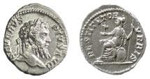 Ancient Coins - Septimius Severus. AR denarius. Rome mint. Struck AD 201