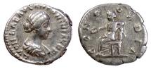 Ancient Coins - Lucilla. AR denarius, Rome mint, under Marcus Aurelius 161-162 AD. Concordia