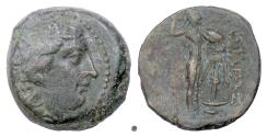 Ancient Coins - SELEUKID, Seleukos I Nikator. AE denom B, Antioch on the Orontes mint, circa 300-281 BC. Athena