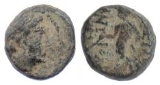 Ancient Coins - SELEUKID, Antiochos III 'the Great'. AE denom D, Antioch 222-187 BCE. Apollo