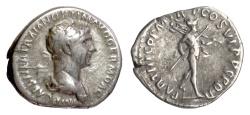 Ancient Coins - Trajan. AR denarius, Rome mint, struck 116-117 AD. Mars
