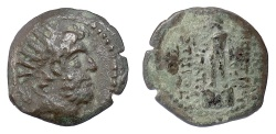 Ancient Coins - SELEUKID KINGS, Demetrios III. AE denom C, Damaskos mint, 97-87 BC. Hermes