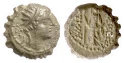 Ancient Coins - SELEUKID, Antiochos IV. AE serrate denom D, Ake-Ptolemais mint, circa 174-168 BC