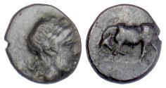 Ancient Coins - MYSIA, Gambrion. AE 9, 4th century BC. Apollo / Bull