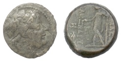 Ancient Coins - SELEUKID KINGS, Alexander II Zabinas. AE denomination B, Antioch. Dated SE 184? (129/8 BC)