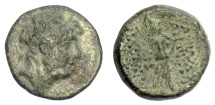 Ancient Coins - SELEUKID KINGS, Antiochos IX Eusebes Philopator. AE denomination B. Tarsos mint. Struck circa 114-112 BC
