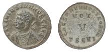 Ancient Coins - Licinius II as Caesar. Billon centenionalis, Thessalonica mint, 320 AD. RARE