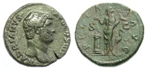 Ancient Coins - Hadrian. AE as. Rome, circa AD 134-138. Uncataloged variant?