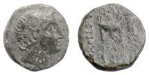 Ancient Coins - SELEUKID KINGS, Antiochos III 'the Great'. AE denomination B. Apollo / tripod