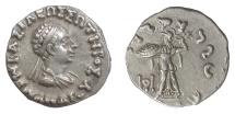 Ancient Coins - Indo-Greek, Menander I Soter. AR drachm, circa 155-130 BC