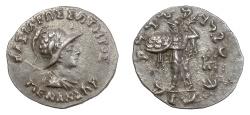 Ancient Coins - BAKTRIA, Indo-Greek Kingdom, Menander I Soter. AR drachm, circa 155-130 BC