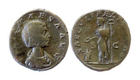 Ancient Coins - JULIA MAESA. Augusta, AD 218-225. AE sestertius, Rome mint. Struck under Elagabalus, AD 220-222