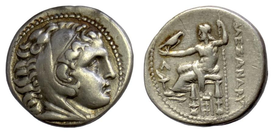 Ancient Coins - KINGS of MACEDON. Alexander III 'the Great'. Amphipolis mint, AR tetradrachm, struck circa 307-297 BC