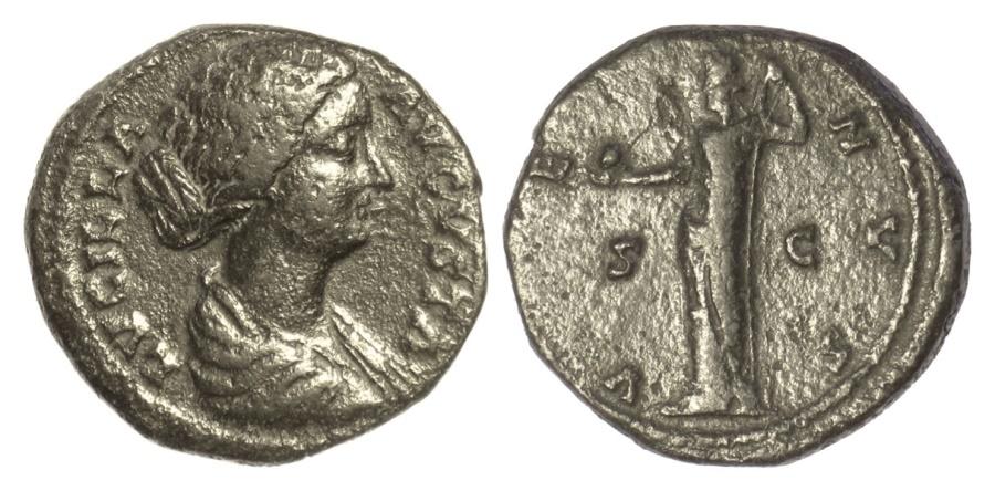 Ancient Coins - Lucilla, Augusta. AE as, Rome mint. Struck AD 166-169. Venus