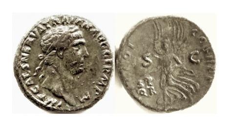Ancient Coins - TRAJAN, AD 98-117. AE as. Rome mint. Struck AD 98-99