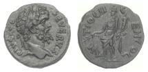 Ancient Coins - Septimius Severus. PISIDIA, Antioch, AE 23, struck circa AD 203. Septimius / Tyche