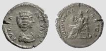 Ancient Coins - Julia Domna. AR Denarius. Rome mint, AD 209. Fortuna