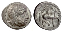 CELTIC imitation of Philip II of Macedon. AR tetradrachm 4th-3rd centuries BC. Zeus / Youth on horse