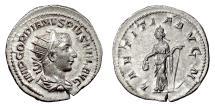 Ancient Coins - Gordian III. AR antoninianus, Rome mint, Struck 241-243 AD