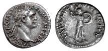 Ancient Coins - DOMITIAN. AR denarius, Rome mint, struck 92-93 AD. Minerva