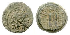 Ancient Coins - SELEUKID KINGS, Demetrios II. AE denom B, Antioch, 129-128 BC. Zeus / Nike. Rare