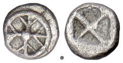 "Ancient Coins - ATTICA, ATHENS. AR Hemiobol ""Wappenmünzen"", circa 515-510 BC. RARE"