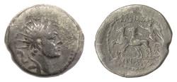 Ancient Coins - SELEUKID KINGS, Antiochos IV. AE denomination B, Ptolemais mint. Nike driving biga