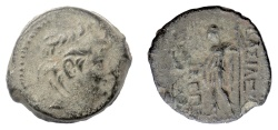 Ancient Coins - SELEUKID KINGS, Alexander II Zabinas. AE denomination B, Antioch. Dated SE 185 (128/7 BC)