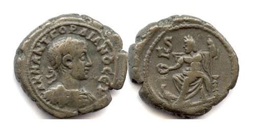 Ancient Coins - ROMAN EGYPT/Alexandria. Gordian III. BI tetradrachm. Dated RY 6 (AD 242/3)
