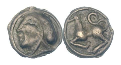 Ancient Coins - CELTIC GAUL. Sequani. Potin unit, Circa 1st century BC