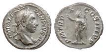 Ancient Coins - Severus Alexander. AR denarius, Rome, struck 231 AD. Sol
