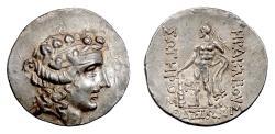 Ancient Coins - THRACE, Thasos. AR Tetradrachm, circa 90-75 BC. Dionysos / Herakles