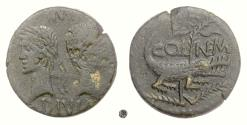 Ancient Coins - AUGUSTUS & AGRIPPA, Gaul, Nemausus. AE As, struck circa 16-10 BC.  Back to back heads / Crocodile