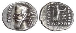 Ancient Coins - Parthia, VONONES I. AR Drachm, Seleukeia on the Tigris mint, circa 8-12 AD