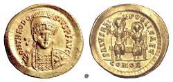 Ancient Coins - THEODOSIUS II.  AV Solidus, Constantinople mint, struck 425-429 AD